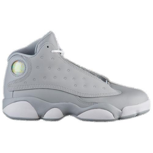 637e85fe3a4 Jordan Retro 13 - Girls' Preschool - Basketball - Shoes - Wolf Grey ...