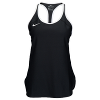 Nike Team Court Dry Tennis Tank - Women's - Black / White