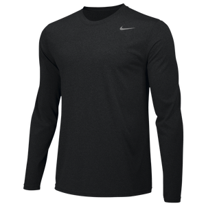 Nike Team Legend Long Sleeve Poly Top - Boys' Grade School - Black/Cool Grey