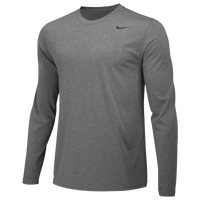 Nike Team Legend Long Sleeve Poly Top - Boys' Grade School - Grey / Grey