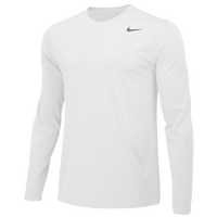 Nike Team Legend Long Sleeve Poly Top - Boys' Grade School - All White / White