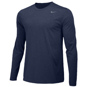 Nike Team Legend Long Sleeve Poly Top - Boys' Grade School - College Navy/Cool Grey
