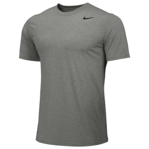Nike Team Legend Short Sleeve Poly Top - Boys' Grade School - Carbon Heather/Black