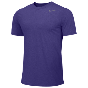 Nike Team Legend Short Sleeve Poly Top - Boys' Grade School - Court Purple/Cool Grey
