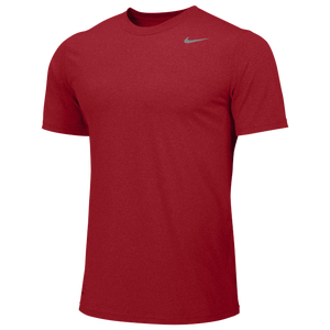 Nike Team Legend Short Sleeve Poly Top - Boys' Grade School - University Red/Cool Grey