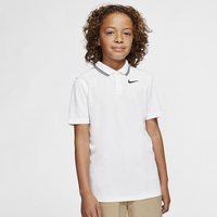 Nike Dry Victory Solid Golf Polo - Boys' Grade School - White