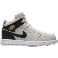 Jordan AJ 1 Mid - Boys  Preschool - Basketball - Shoes - Black Dark ... 4ed6ee3b4
