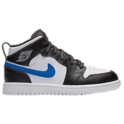 d22bea7ac74b Jordan AJ 1 Mid - Boys  Preschool - Basketball - Shoes - Black White ...