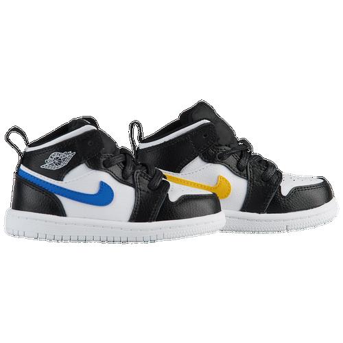 2a2f33f46d Jordan AJ 1 Mid - Boys  Toddler - Basketball - Shoes - Black White ...