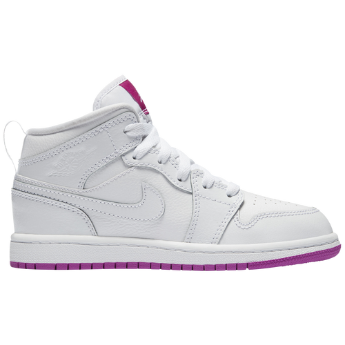 huge discount 4ba4a cd9f2 Jordan AJ 1 Mid - Girls  Preschool - Basketball - Shoes -  White White Fuchsia Blast