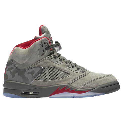 Jordan Retro 5 - Boys' Grade School - Basketball - Shoes - Dark  Stucco/University Red/River Rock/Bio Beige