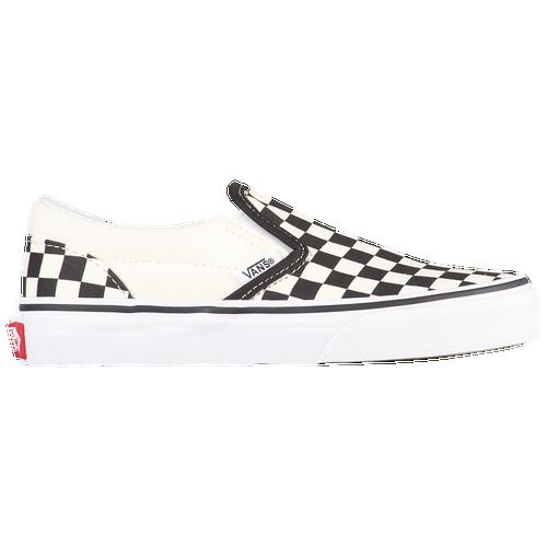 Vans Classic Slip On - Boys' Preschool - Casual - Shoes - Black/True White