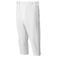 Mizuno Premier Short Piped Pants - Men's - White / Navy