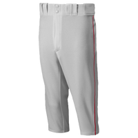 Mizuno Premier Short Piped Pants - Men's - Grey / Red