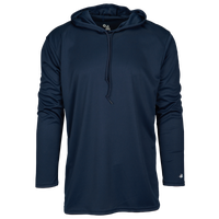 Badger Sportswear B-Core L/S Hood - Men's - Navy / Navy