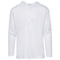 Badger Sportswear B-Core L/S Hood - Men's - White