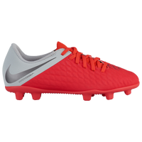 Nike Hypervenom Phantom 3 Club FG - Boys' Grade School - Red / Grey