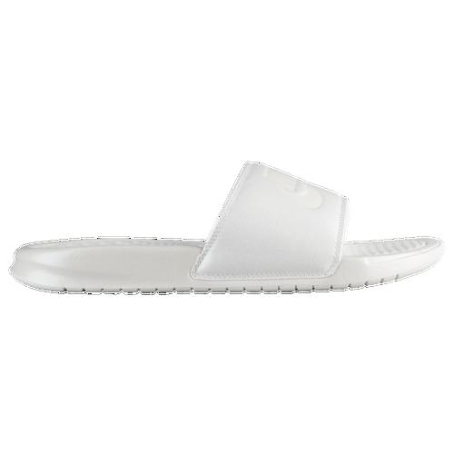 1fb841df3f3c Nike Benassi Swoosh Slide - Women s - Casual - Shoes - Metallic Sum White