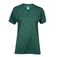 Badger Sportswear Tonal Blend V-Neck T-Shirt - Women's - Green / Green