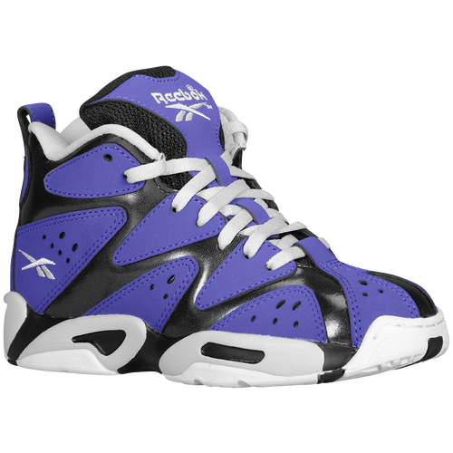 Reebok Kamikaze 1 Mid Boys Preschool Basketball Shoes Team Purple BlackSteelWhite