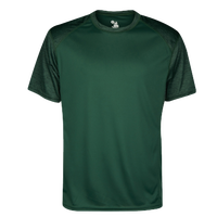 Badger Sportswear Tonal Blend Panel S/S T-Shirt - Men's - Dark Green / Dark Green