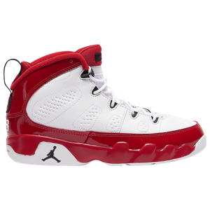 Jordan Retro 9 - Boys' Preschool - White/Black/Gym Red