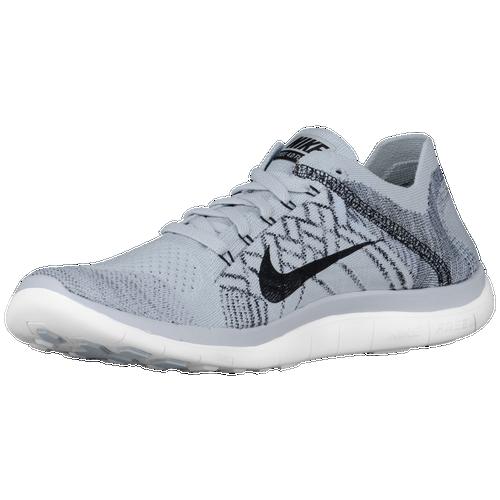 Nike Free 4.0 Flyknit 2015 - Men's - Running - Shoes - Platinum/Black/Grey