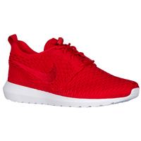 ... Nike Roshe Flyknit - Pour hommes - Rouge / Blanc