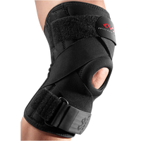 McDavid Knee Support w/ Stays & Cross Straps - All Black / Black