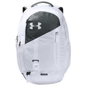 Under Armour Hustle Backpack 4.0 - White/Pitch Gray/Silver