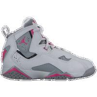 Jordan True Flight - Girls  Preschool - Grey   Pink f538ea626