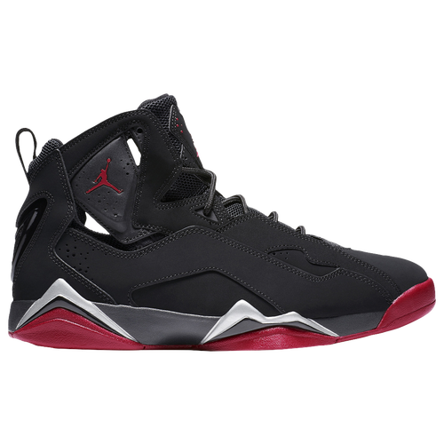Jordan True Flight - Men's - Basketball - Shoes - Black/Gym Red/Metallic  Silver