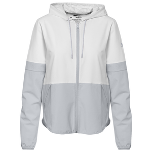 Under Armour Team Team Squad 2.0 Woven Warm-Up Jacket - Women's - White/Halo Grey
