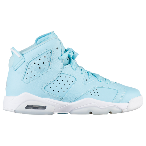 Jordan Retro 6 - Girls' Grade School - Basketball - Shoes - Still  Blue/White/White