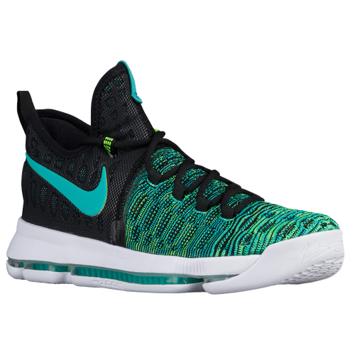 Nike KD 9 - Men's - Basketball - Shoes - Durant, Kevin - Black/Clear Jade