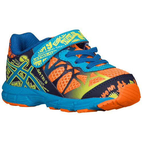 ASICS® Noosa Tri 9 - Boys' Toddler - ASICS® - Running - Flash Orange/Aqua/ Navy