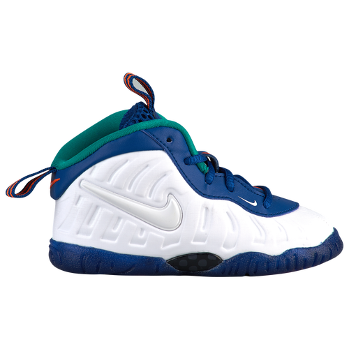 84d71c1315e6 Nike Little Posite Pro - Boys  Toddler - Casual - Basketball - Gym Blue White Cone Neptune  Green