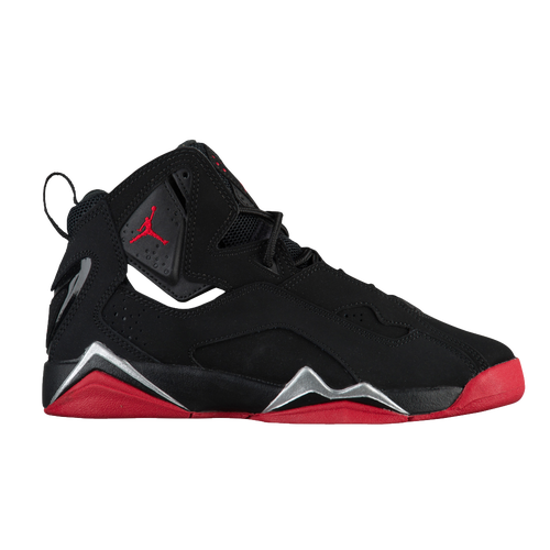 Jordan True Flight - Boys' Grade School - Basketball - Shoes - Black/Gym  Red/Metallic Silver
