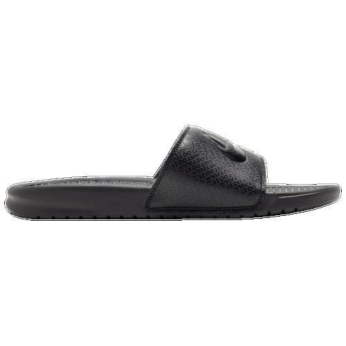 Nike Benassi JDI Slide - Men s - Casual - Shoes - Black White 7c413a5ee3c4