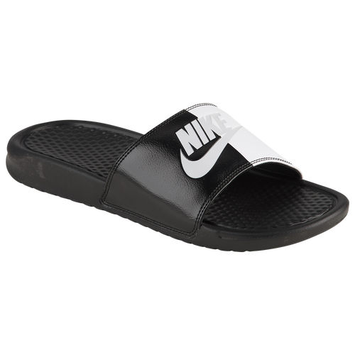 huge discount 32769 685d3 Nike Benassi JDI Slide - Men s - Casual - Shoes - Orange White   Print