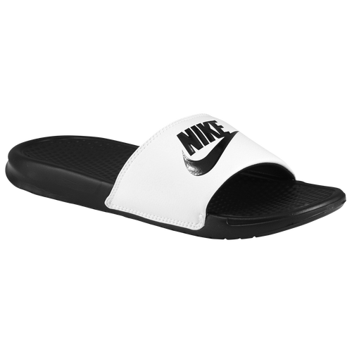 Nike Benassi JDI Slide - Men's - Casual - Shoes - White/Black