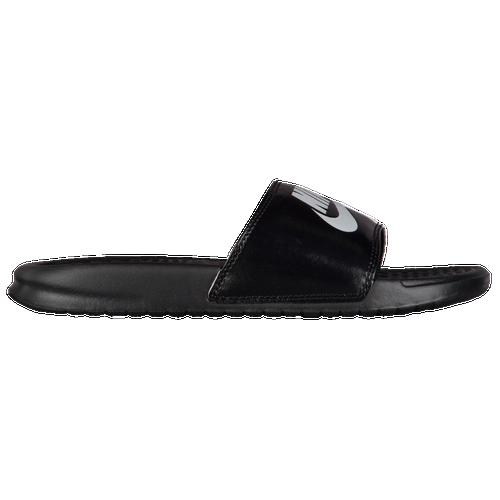 1c77a579b726 Nike Benassi JDI Slide - Women s - Casual - Shoes - Black Pure Platinum  White