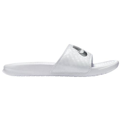79e3c3444e92 Nike Benassi JDI Slide - Women s - Casual - Shoes - White Metallic Silver