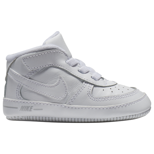 Nike Air Force One Crib - Boys' Infant - Casual - Shoes - White/White/White