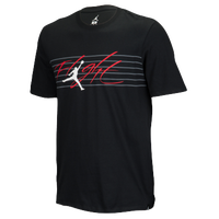 Jordan Flight Lines T-Shirt - Men s - Black   Grey d412a18780