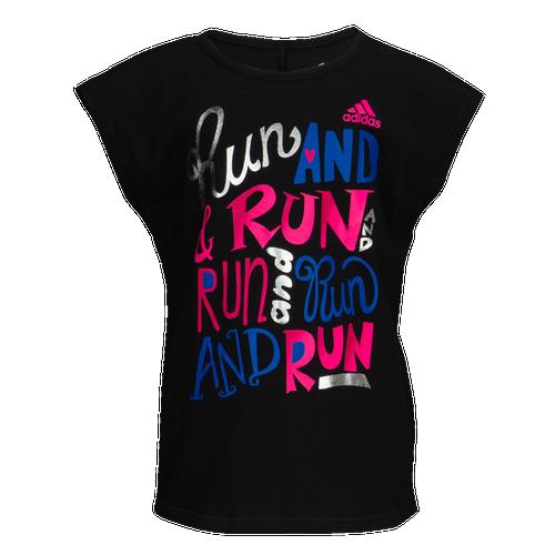 dc83f293bd4d3b adidas Graphic S S T-Shirt - Girls  Preschool - Casual - Clothing ...