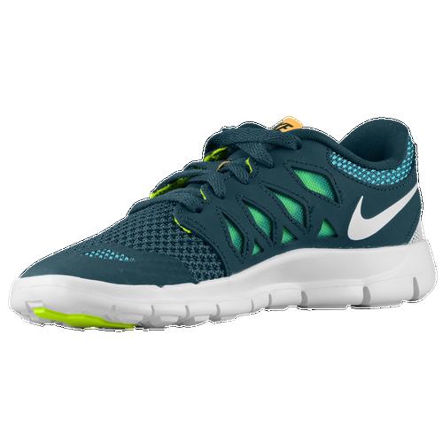 Nike Free Garçons Vert Turbo 5,0 Morelle