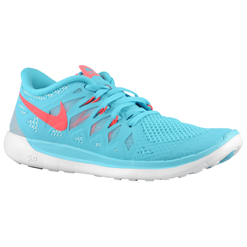 Nike Free 5.0 - Girls' Grade School - Nike - Running - Polarized Blue/Laser  Crim/Pure Platinum/Laser Crim