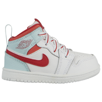 Jordan AJ 1 Mid - Girls' Toddler - White