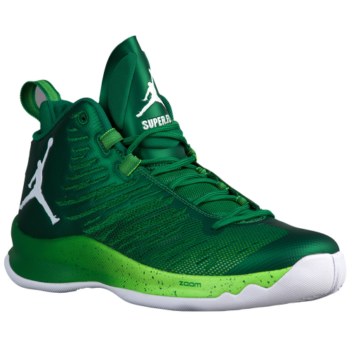 Jordan Super.Fly 5 - Men's - Basketball - Shoes - Pine Green/White/Electro  Green